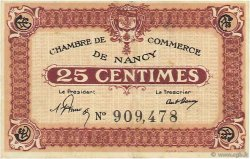 25 Centimes FRANCE régionalisme et divers NANCY 1918 JP.087.56 TTB