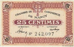 25 Centimes  FRANCE régionalisme et divers Nancy 1918 JP.087.56 SUP