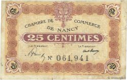 25 Centimes FRANCE regionalism and various NANCY 1918 JP.087.58 F