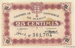 25 Centimes FRANCE régionalisme et divers NANCY 1918 JP.087.62 TTB