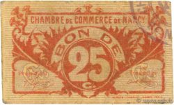 25 Centimes  FRANCE regionalism and miscellaneous Nancy 1918 JP.087.67 VF-
