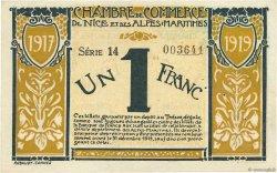 1 Franc FRANCE régionalisme et divers Nice 1917 JP.091.05 SUP