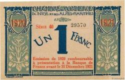 1 Franc FRANCE régionalisme et divers NICE 1917 JP.091.07 TTB+