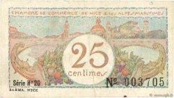 25 Centimes FRANCE régionalisme et divers NICE 1918 JP.091.18 TB
