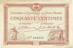 50 Centimes FRANCE régionalisme et divers Niort 1915 JP.093.01 TTB
