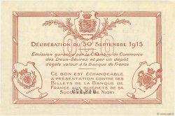 50 Centimes FRANCE régionalisme et divers Niort 1915 JP.093.01 SUP+