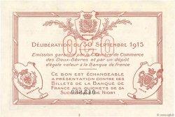 50 Centimes FRANCE régionalisme et divers Niort 1915 JP.093.01 pr.SPL