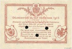 50 Centimes FRANCE régionalisme et divers NIORT 1915 JP.093.02 SUP+