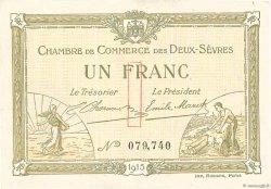 1 Franc FRANCE régionalisme et divers Niort 1915 JP.093.03 SPL