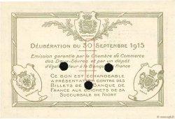 1 Franc FRANCE régionalisme et divers NIORT 1915 JP.093.05 pr.NEUF