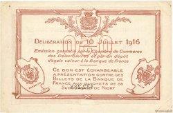 50 Centimes FRANCE régionalisme et divers Niort 1916 JP.093.06 TTB