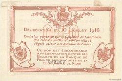 50 Centimes FRANCE régionalisme et divers NIORT 1916 JP.093.06 TTB+