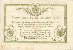 1 Franc FRANCE régionalisme et divers Niort 1916 JP.093.08 TB