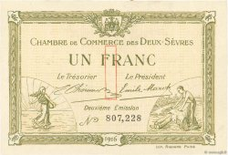 1 Franc FRANCE regionalism and miscellaneous Niort 1916 JP.093.08 VF+