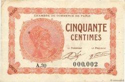50 Centimes FRANCE régionalisme et divers Paris 1920 JP.097.10 TB