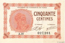 50 Centimes FRANCE régionalisme et divers Paris 1920 JP.097.10 SPL