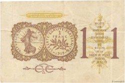 1 Franc FRANCE régionalisme et divers PARIS 1920 JP.097.23
