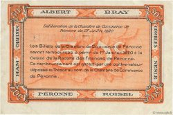 50 Centimes FRANCE régionalisme et divers Péronne 1920 JP.099.01 TTB