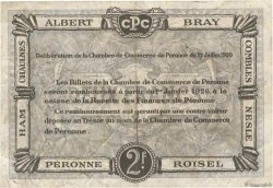 2 Francs FRANCE régionalisme et divers Péronne 1920 JP.099.03 TB