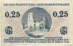 25 Centimes FRANCE régionalisme et divers Arras 1918 JP.013.03 TTB+