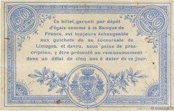 50 Centimes FRANCE régionalisme et divers LIMOGES 1914 JP.073.01 TB