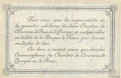 1 Franc FRANCE régionalisme et divers Quimper et Brest 1921 JP.104.20 pr.SUP