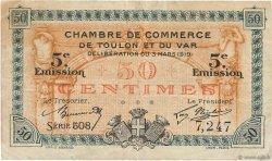 50 Centimes FRANCE régionalisme et divers TOULON 1919 JP.121.26 TB