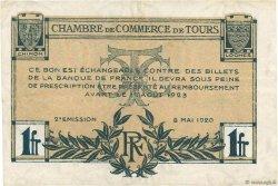 1 Franc FRANCE régionalisme et divers TOURS 1920 JP.123.04 pr.TTB