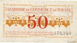 50 Centimes FRANCE régionalisme et divers TOURS 1920 JP.123.06 TTB+