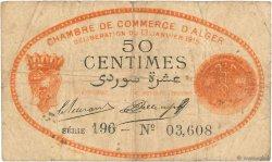 50 Centimes FRANCE régionalisme et divers Alger 1915 JP.137.05 pr.TB