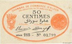 50 Centimes FRANCE régionalisme et divers Alger 1915 JP.137.05 TTB+