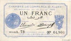 1 Franc FRANCE régionalisme et divers ALGER 1920 JP.137.14 TTB