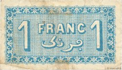 1 Franc FRANCE régionalisme et divers ALGER 1921 JP.137.20 pr.TB