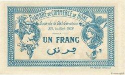 1 Franc FRANCE régionalisme et divers BÔNE 1919 JP.138.10 NEUF