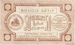 50 Centimes FRANCE régionalisme et divers BOUGIE, SETIF 1915 JP.139.01 SUP