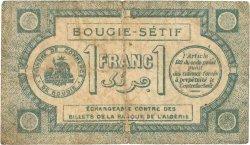1 Franc FRANCE régionalisme et divers Bougie, Sétif 1915 JP.139.02 pr.TB