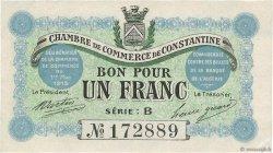 1 Franc FRANCE régionalisme et divers CONSTANTINE 1915 JP.140.04 TTB+