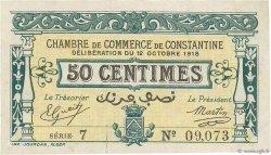 50 Centimes FRANCE régionalisme et divers CONSTANTINE 1918 JP.140.17 SUP