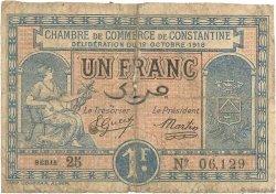 1 Franc FRANCE régionalisme et divers CONSTANTINE 1918 JP.140.18 B