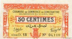 50 Centimes FRANCE régionalisme et divers Constantine 1920 JP.140.23 SUP+