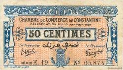 50 Centimes FRANCE régionalisme et divers CONSTANTINE 1921 JP.140.25 TB
