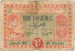 1 Franc FRANCE régionalisme et divers CONSTANTINE 1921 JP.140.26 B