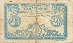2 Francs FRANCE régionalisme et divers Oran 1915 JP.141.03 pr.TB