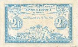 2 Francs FRANCE régionalisme et divers ORAN 1915 JP.141.03 TTB+