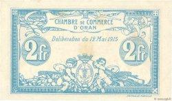 2 Francs FRANCE régionalisme et divers ORAN 1915 JP.141.03 SUP