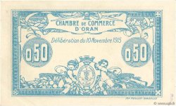 50 Centimes FRANCE régionalisme et divers Oran 1915 JP.141.04 SUP