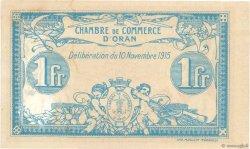1 Franc FRANCE régionalisme et divers Oran 1915 JP.141.08 TTB