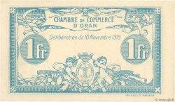 1 Franc FRANCE régionalisme et divers ORAN 1915 JP.141.08 pr.NEUF