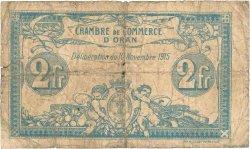 2 Francs FRANCE régionalisme et divers ORAN 1915 JP.141.14 B