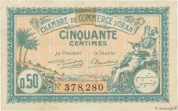 50 Centimes FRANCE régionalisme et divers Oran 1921 JP.141.25 TTB+